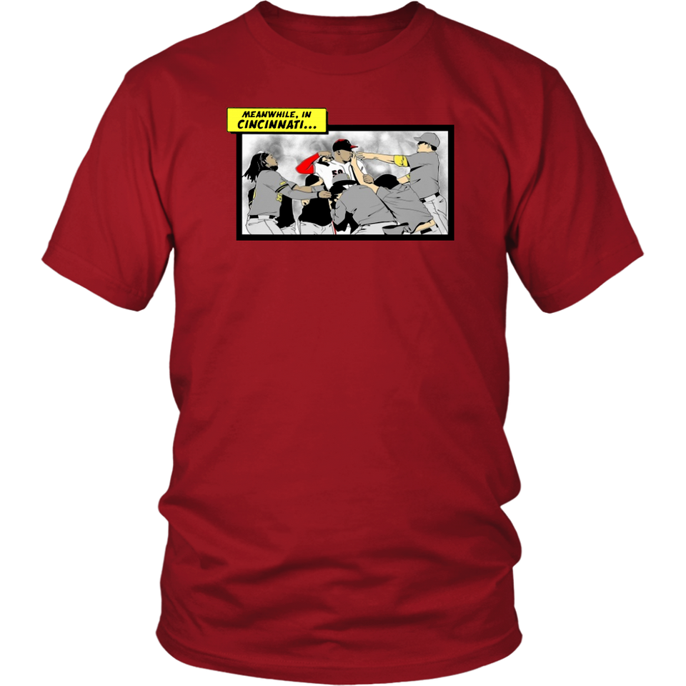 Meanwhile in Cincinnati Shirt Puig Fight - Cincinntai Reds -  Funny Gift for Fans