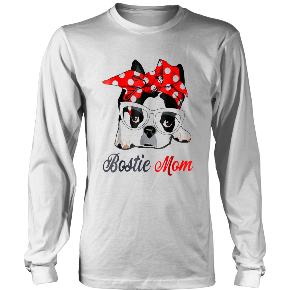 Bostie mom boston terrier bandana cute motherday shirt funny