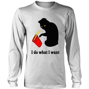Do What I Want Black Cat Red Cup Funny Graphic Shirt