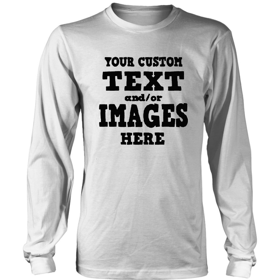 Custom T-Shirts - Your Custom Text or Image Unisex T-Shirt with Unlimited Colors