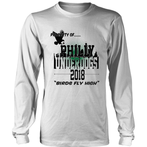 Property of Philly Underdogs 2018 Birds Fly High T-shirt Philadelphia Eagles
