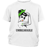 Unbreakable mental health warrior strong girl shirt funny