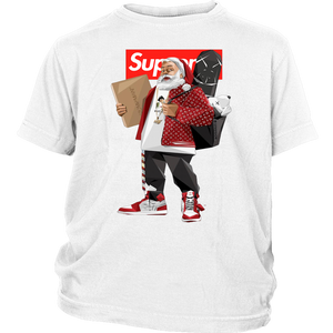 Santa Claus Supreme hiphop shirt Funny Christmas