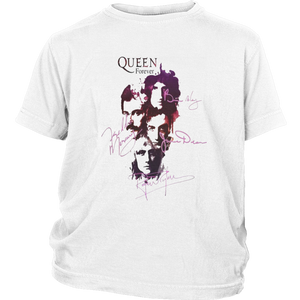 QUEEN FOREVER SHIRT Freddie Mercury - Brian May - Roger Taylor - John Deacon SIGNATURE