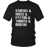 Kamara & Brees & Payton & Thomas & Ingram Shirt