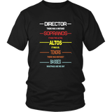 DIRECTOR - SOPRANOS - ALTOS - TENORS - BASSES SHIRT The King's Singers
