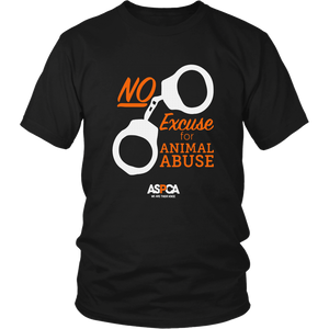 ASPCA No Excuse for Animal Abuse T-Shirt Dark