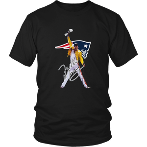 Freddie Mercury - New England Patriots Shirt New England Patriots - Patriots Six-Time Super Bowl Champs