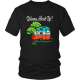 Wanna Hook Up Camping Car Fire Funny T-shirt