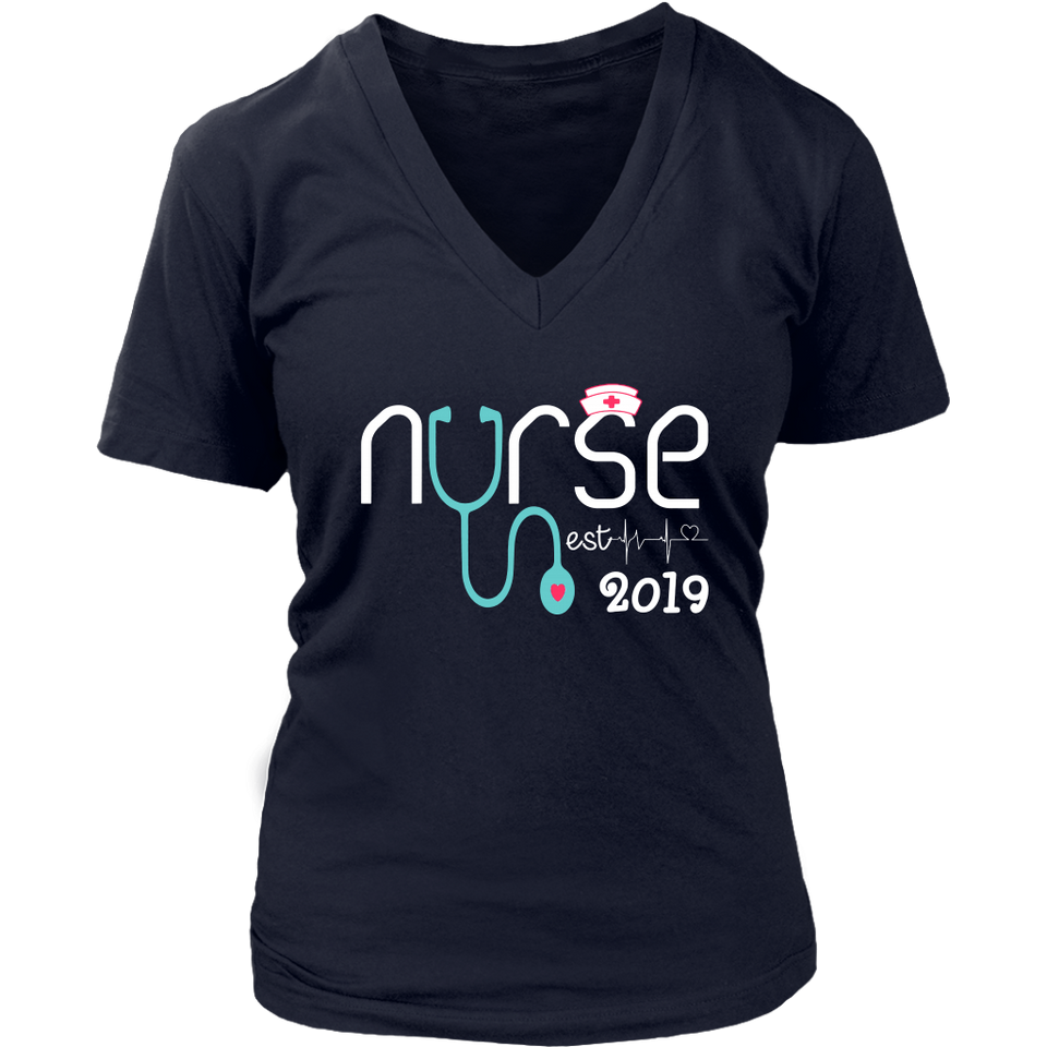 New Nurse Est 2019 Tshirt Nursing School Graduation Gift