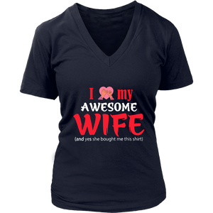 I Love My Wife T Shirt for Men Valentines Gift for Husband