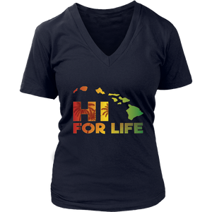 Hawaii For Life Rasta Island Chain T-Shirt