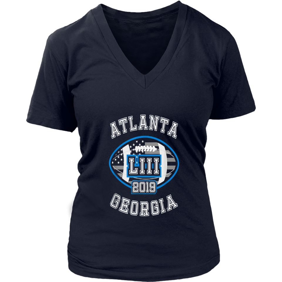 Football Super LIII 53 bowl 2019 Gifts Shirts Atlanta Round