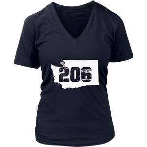 Seattle Washington 206 Area Code T-Shirt