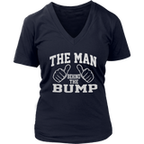 The Man Behind The Bump Men's Funny Novelty T-Shirt