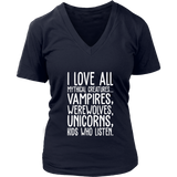 I Love All Mythical Creatures And Kids Who Listen Shirt