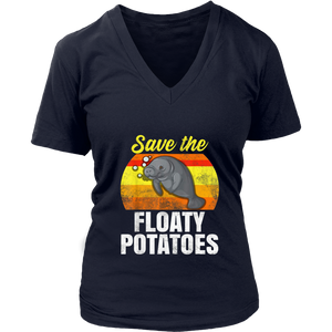 Save The Floaty Potatoes Retro Vintage T-shirt