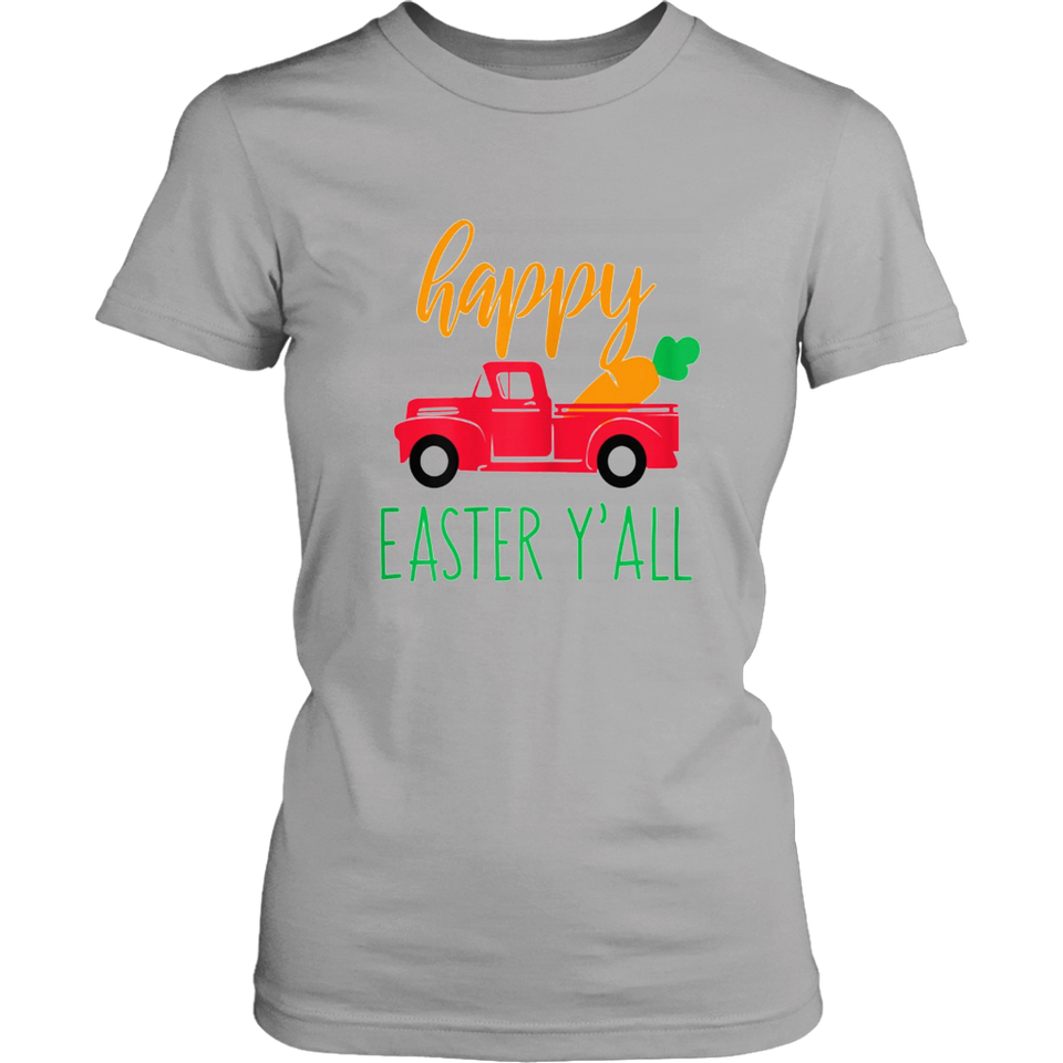 Happy Easter Yall Red Truck with Carrot T Shirt