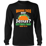 Wanna Taco Bout Jesus Funny Christian Premium T-Shirt