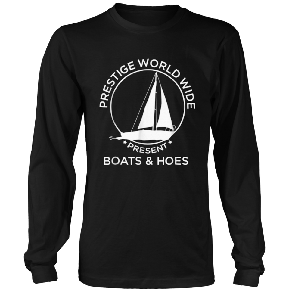Prestige Worldwide Presents Boats Hoes T-shirt Funny T-shirt