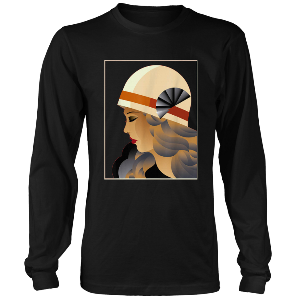 Art Deco Clothing 1920s 1930s Retro Woman Tshirt