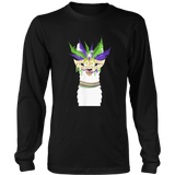 Cute & Stylish Llama Wearing Carnival Mask Tshirt