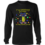 Cute Cat I've Grooved My Way To 100th Day Of School Shirt