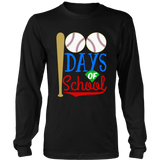 100th Days Of School T Shirt Baseball School Gift