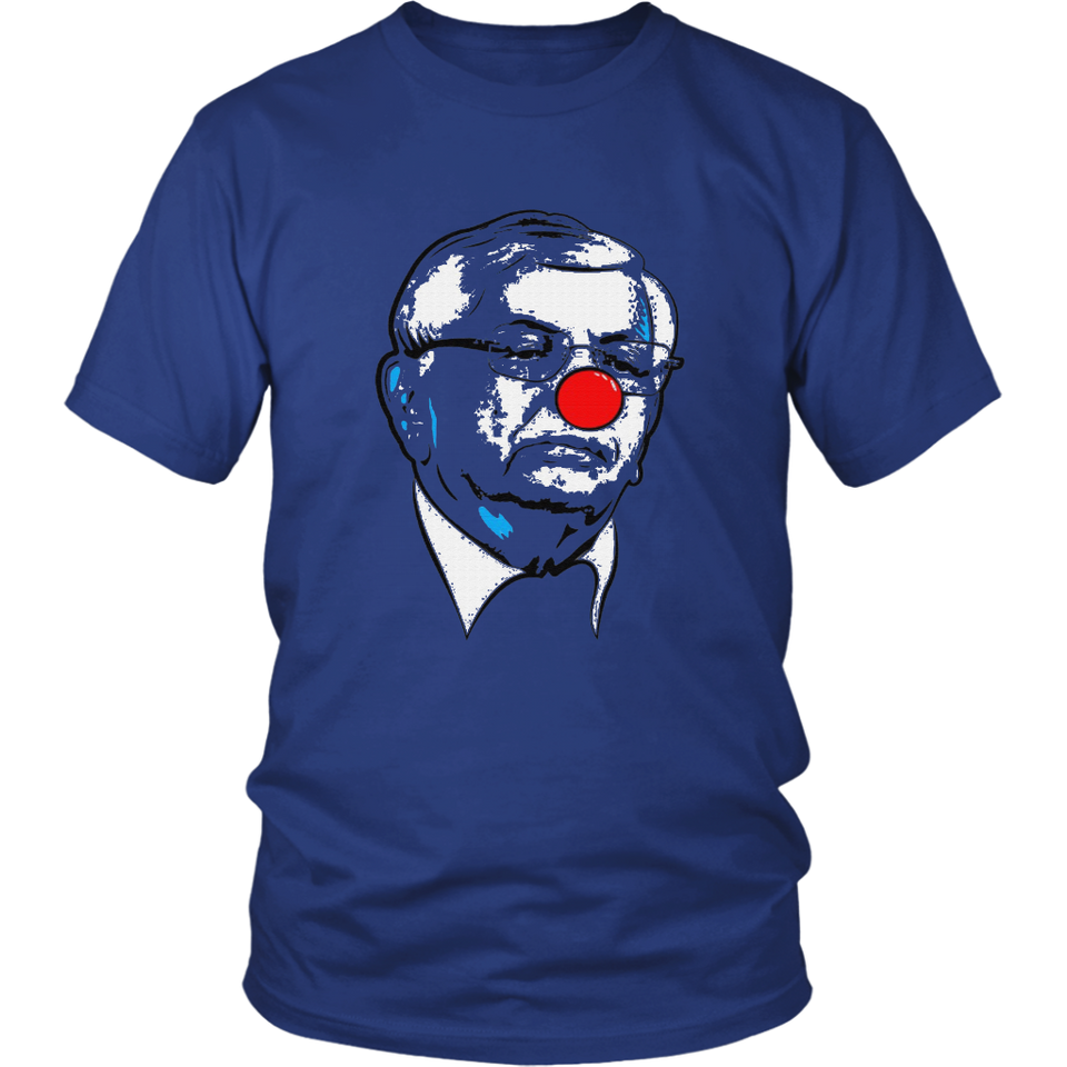 David Stern clown shirt - Van Gundy wearing the David Stern clown shirt