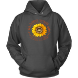 Sunflower Compass Jeep wander woman the soul of a witch the fire of a lioness the heart of a hippie shirt