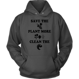 Save the bee plant more tree clean the sea shirt