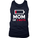 Mom of 2 Boys Shirt Gift from Son Mothers Day Birthday Women