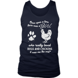 There was a girl who really loved dogs and chickens T-shirt