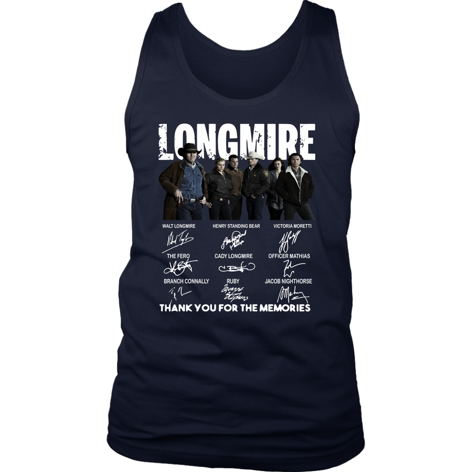 LONGMIRE CHARACTER SIGNATURES THANK YOU FOR THE MEMORIES SHIRT
