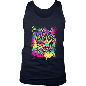 Totally Rad 80s Neon Paint Splash 1980s Party T-Shirt