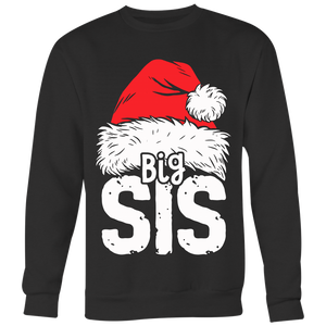 Sister Big Christmas Santa T Shirt Family Matching Pajamas