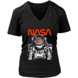 NASA Astronaut Moon Reflection Vintage Retro Graphic T-Shirt