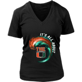 Miami Hurricanes Wave - All About The U T-Shirt - Apparel