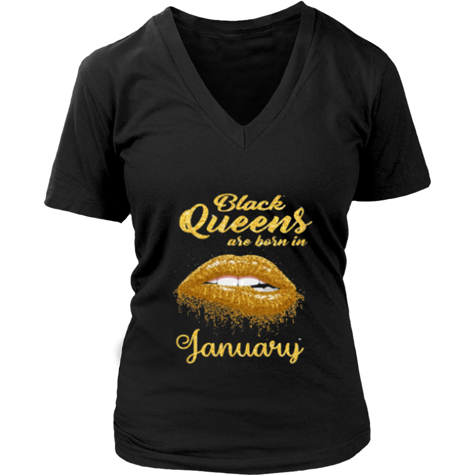 Black Queens Are Born In January Gold Birthday
