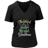 Grateful Thankful and Blessed Grandma Shirt