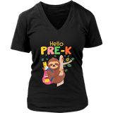 Funny Hello Pre-K Gift Back To School Sloth Gift T-Shirt