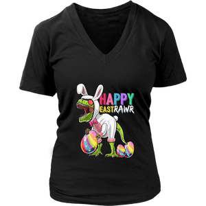 Happy Eastrawr T Rex Dinosaur Easter Bunny Egg Shirt Kids