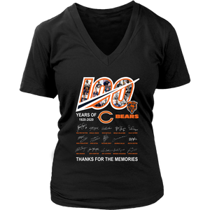 100 year of chicago bears thanks for the memories shirt