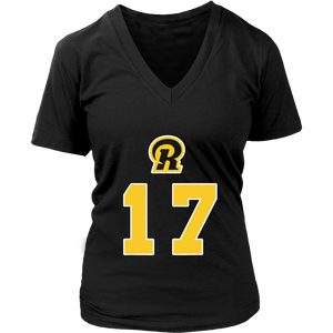 LA Ram Football T-Shirt With Number 17 Woods