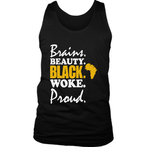 Black History Brains Beauty Black Woke Proud Tshirt Apparel