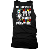 I'll Support Autism Here Or There I'll Support Autism Everywhere Shirt Dr. Seuss