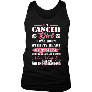 I Am A Cancer Girl TShirt Women With Cancer Zodiac Birthday T-Shirt