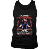 CAPTIAN MARVEL WAS BORN IN APRIL SHIRT