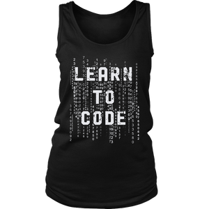 Learn To Code Shirt Funny Meme Coder Programing Coding Gift