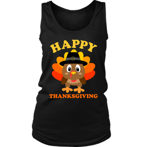Happy Thanksgiving Shirts for Boys Girls Kids Pilgrim Turkey T-Shirt